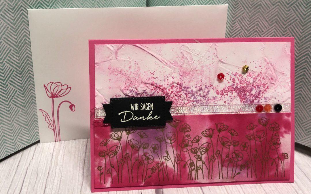 Mohnblüten auf Aquarellpapier