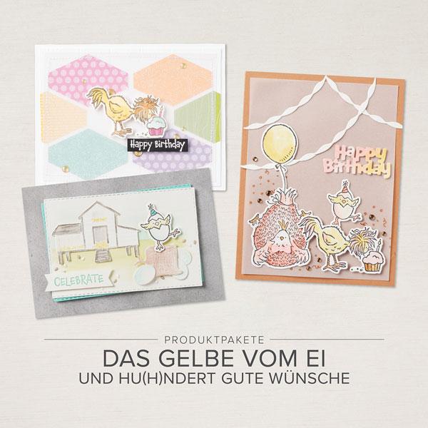 """Produktpakete """"Das Gelbe vom Ei"""" und """"Hu(h)ndert gute Wünsche"""""""