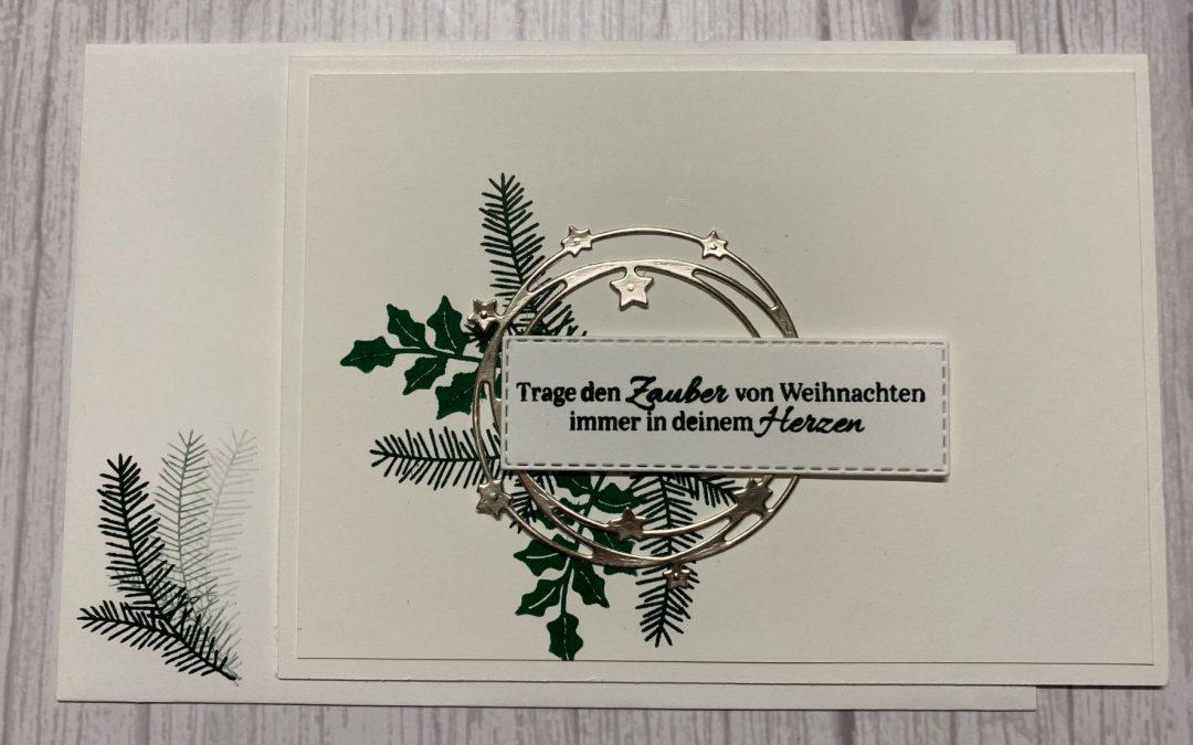 Schöner Kranz Weihnachtskarten